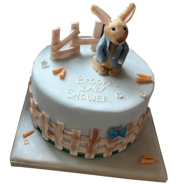 Peter Rabbit Style Baby Shower Cake