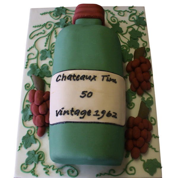 Vintage Wine Birthday Cake
