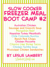 Load image into Gallery viewer, Slow Cooker Freezer Meal Boot Camp #2