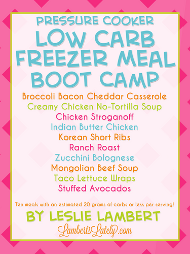 Low Carb Pressure Cooker Freezer Meal Boot Camp