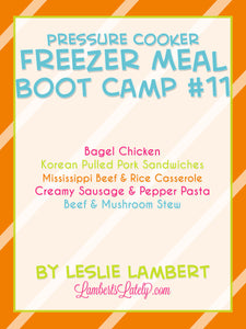 Pressure Cooker Freezer Meal Boot Camp #11