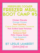 Load image into Gallery viewer, Pressure Cooker Freezer Meal Boot Camp #5