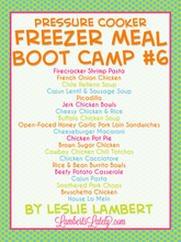 Load image into Gallery viewer, Pressure Cooker Freezer Meal Boot Camp #6