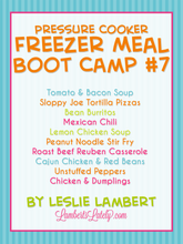 Load image into Gallery viewer, Pressure Cooker Freezer Meal Boot Camp #7