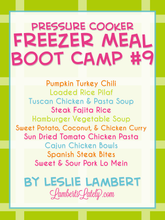 Load image into Gallery viewer, Pressure Cooker Freezer Meal Boot Camp #9