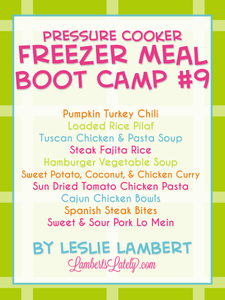 Pressure Cooker Freezer Meal Boot Camp #9