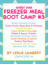 Load image into Gallery viewer, Sheet Pan Freezer Meal Boot Camp #3