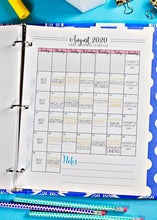 Load image into Gallery viewer, (Light Version) Journey to Clean 2020 Monthly Calendars