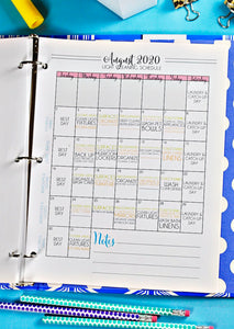 (Light Version) Journey to Clean 2020 Monthly Calendars