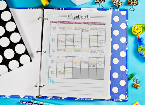 (Light Version) Journey to Clean 2021 Monthly Calendars