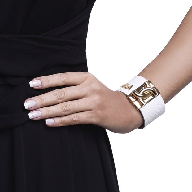 Bracelet Croco White Gold