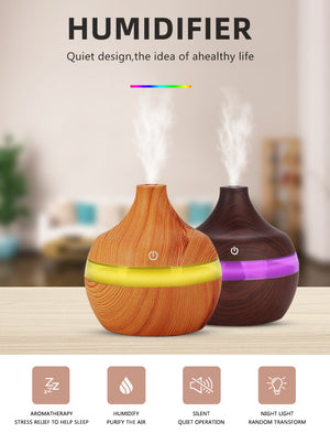 Wood Grain Ultrasonic Humidifier - SDK Creations