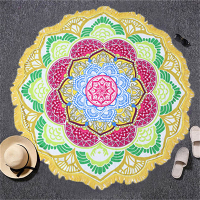 Mandala Yoga Towel - SDK Creations