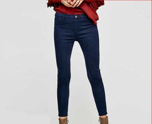 Slim Wrap Stretch Denim Pants - SDK Creations