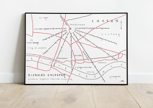 Nicholas Culpeper (London Quote Fan Map)