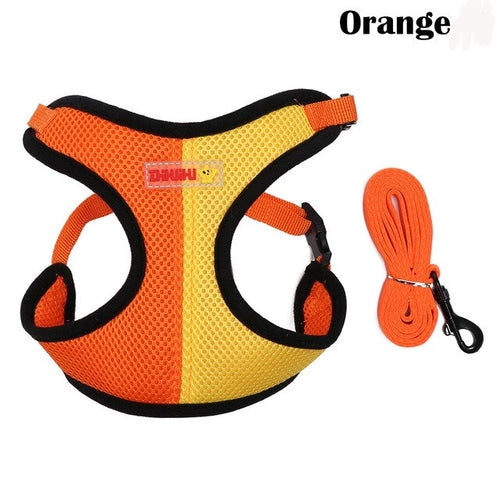 One Breathable Dog Mesh Harness Pet Cat Harness