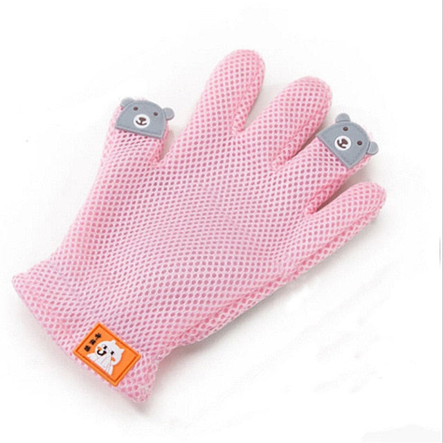 Hot Sale Dog Pet Brush Glove Deshedding Gentle Efficient Pet Grooming Glove Dog Bath Cat Cleaning Supplies Pet Glove Dog Combs