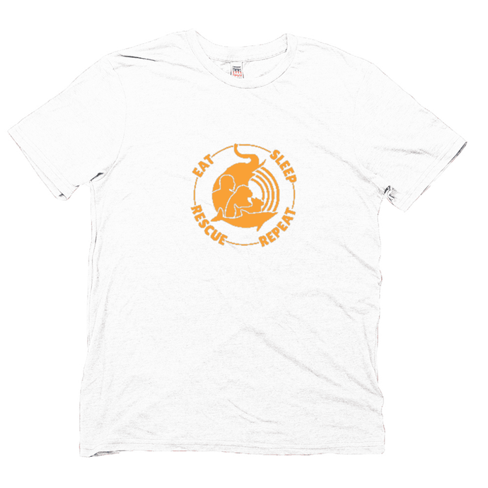 Orange Eat, Sleep, Rescue, Repeat T-Shirt