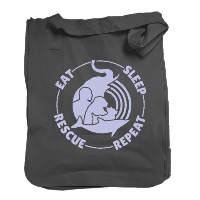 Eat, Sleep, Rescue, Repeat Canvas Tote