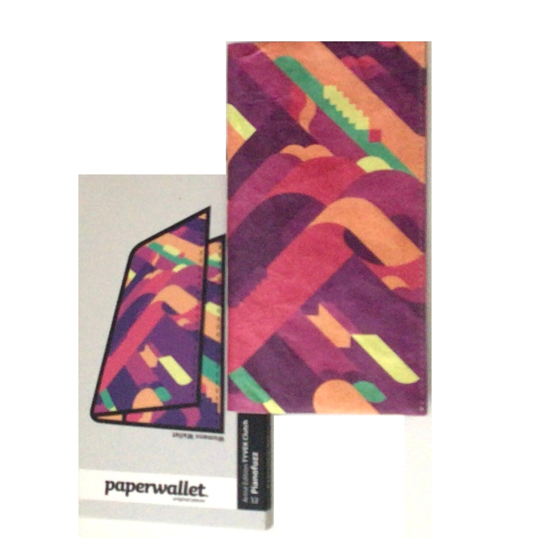 paperwallet clutch- piano fuzz pink