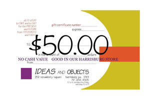 GIFT CERTIFICATE for our HARRISBURG STORE
