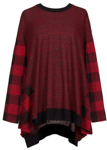 ALEMBIKA buffalo check sweater