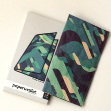 Load image into Gallery viewer, paperwallet clutch- piano fuzz green