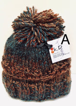 Load image into Gallery viewer, k1p2   brown - turquoise hats /scarves