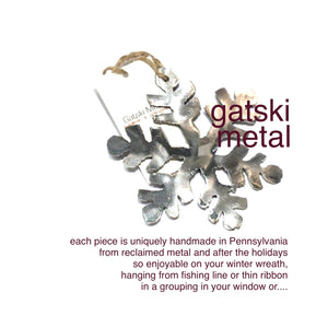 GATSKI METAL snowflake ornament