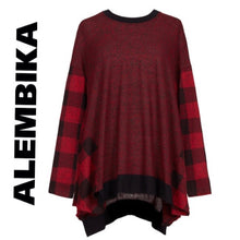 Load image into Gallery viewer, ALEMBIKA buffalo check sweater