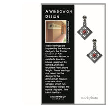 Load image into Gallery viewer, DAVID HOWELL a window on design FLW  EARRINGS
