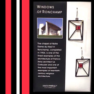 DAVID HOWELL windows of ronchamp EARRINGS
