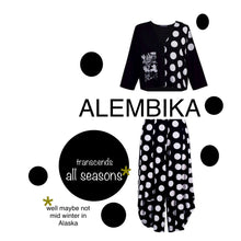 Load image into Gallery viewer, ALEMBIKA   MIXED MEDIA DOT CARDIGAN