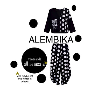 ALEMBIKA   MIXED MEDIA DOT CARDIGAN