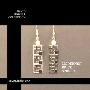 DAVID HOWELL modernist brick screen EARRINGS