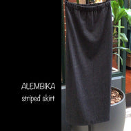 ALEMBIKA striped skirt
