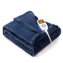 Load image into Gallery viewer, Heated Blanket Blue VX-PS010