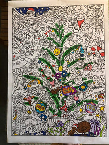 Crazy Kinda Christmas Colouring Poster