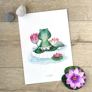 Illustration . Grenouille Yogi