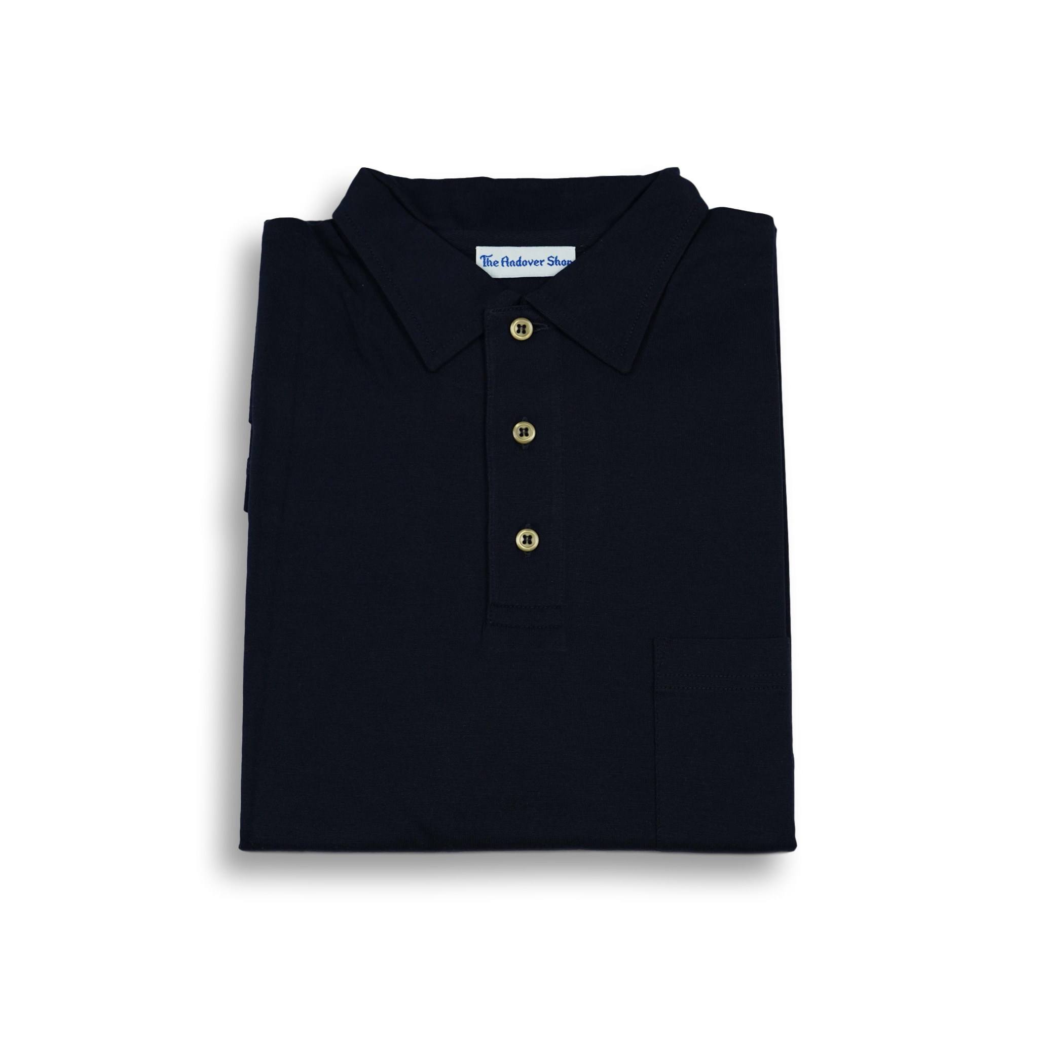 Solid Jersey Polo with Self Collar