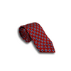 Red Silk Square Patterned Tie