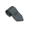 Pale Grey Silk Square Patterned Tie