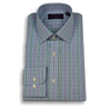 Blue Check with Windowpane Spread Collar Dress Shirt