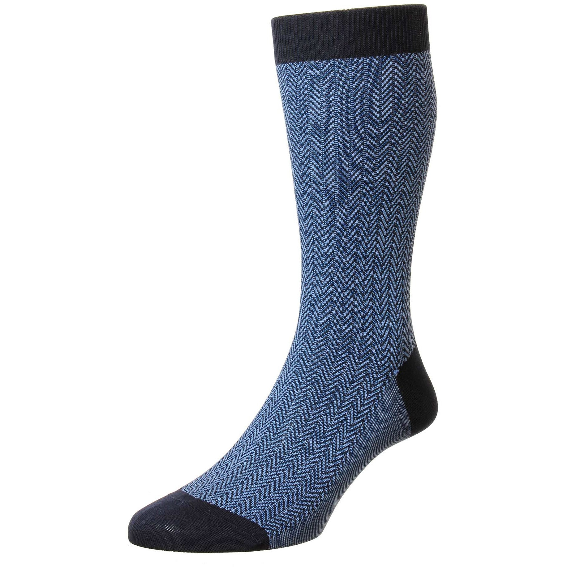 Fabian Herringbone Calf Length Dress Socks