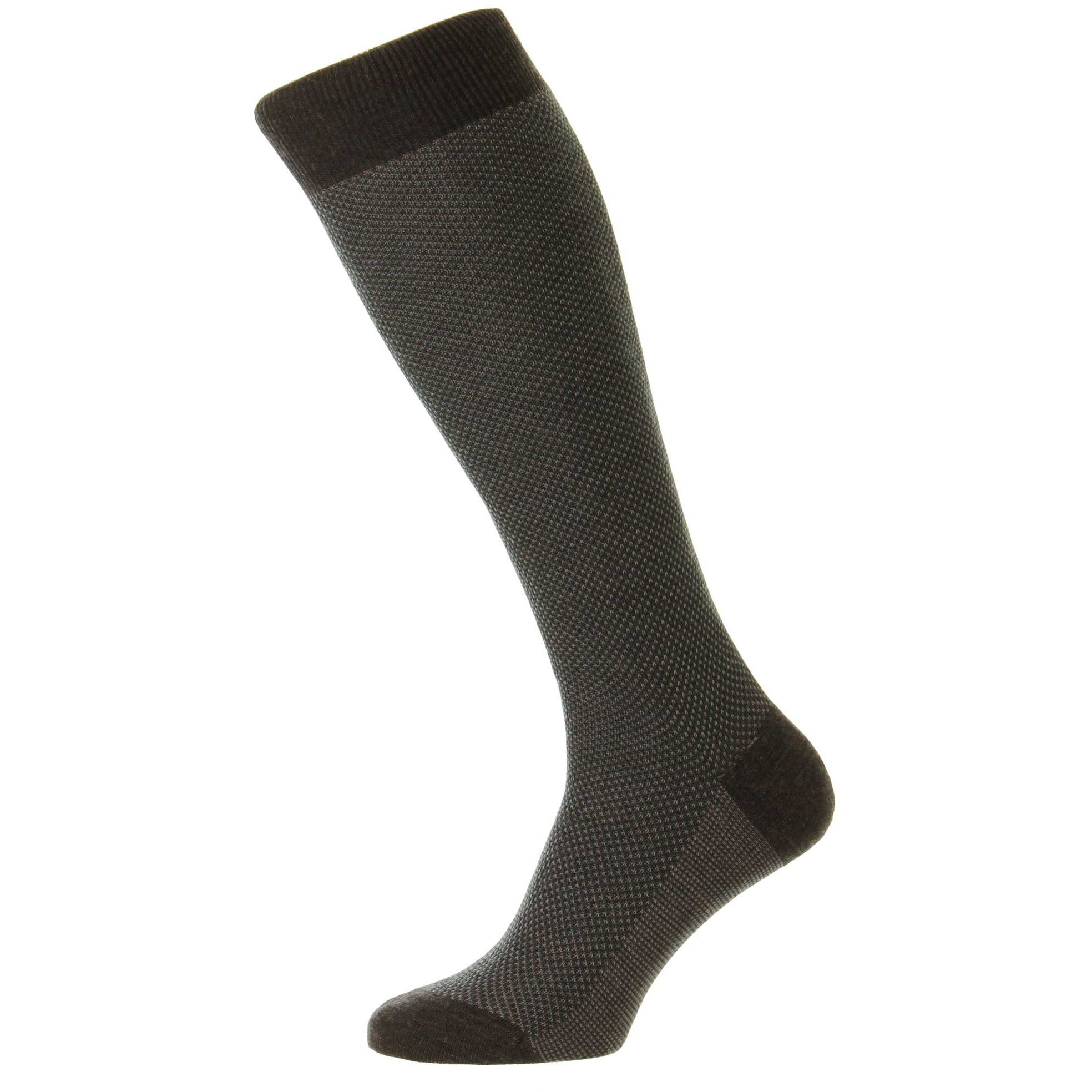 Blenheim 3 Color Birdseye Merino Wool Over the Calf Socks