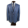 Ocean Blue Jacket with Subtle Brown Windowpane