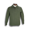 Lambswool 4-button Mock Sweater