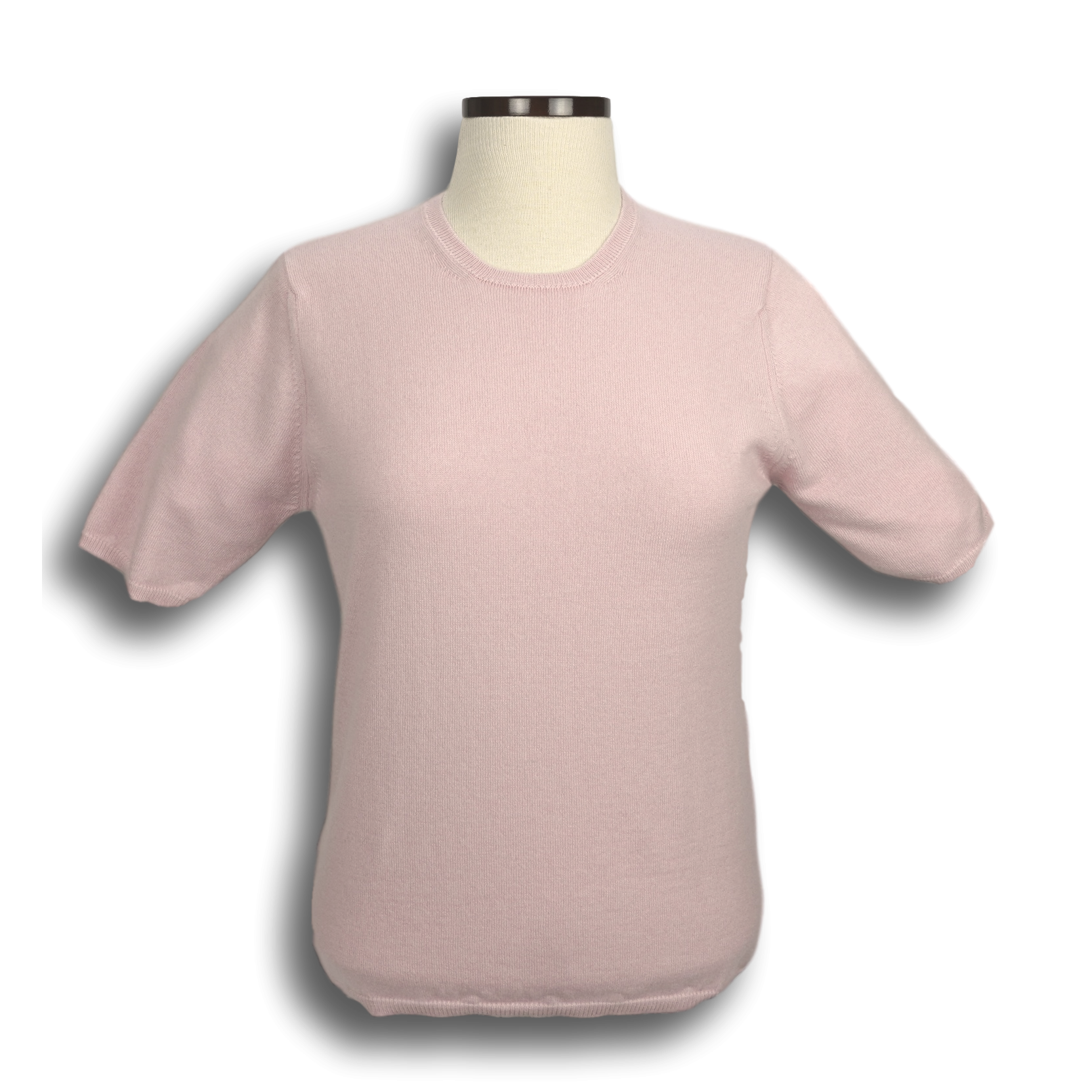 Cashmere Short Sleeve Crewneck Sweater