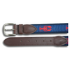 Lobster Leather Tab Ribbon Belt