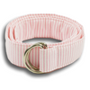 Pink and White Striped Ribbon Belt